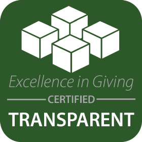 Excellence in Giving, certified transparent